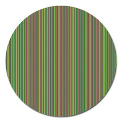 Green lines Magnet 5  (Round)