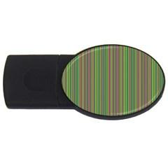 Green lines USB Flash Drive Oval (2 GB)