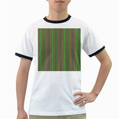 Green lines Ringer T-Shirts
