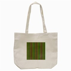 Green lines Tote Bag (Cream)