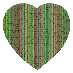 Green lines Jigsaw Puzzle (Heart)