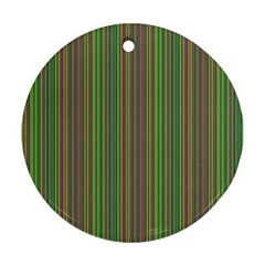 Green lines Round Ornament (Two Sides)