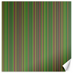 Green lines Canvas 12  x 12