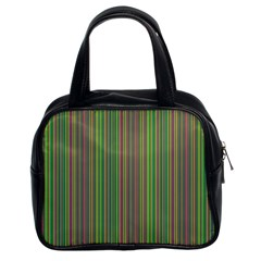 Green Lines Classic Handbags (2 Sides)