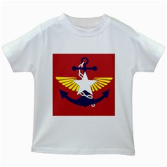 Flag of The Myanmar Armed Forces Kids White T-Shirts