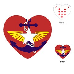 Flag of The Myanmar Armed Forces Playing Cards (Heart)