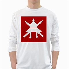 Flag of The Myanmar Army White Long Sleeve T-Shirts