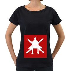 Flag Of The Myanmar Army Women s Loose Fit T Shirt (black)