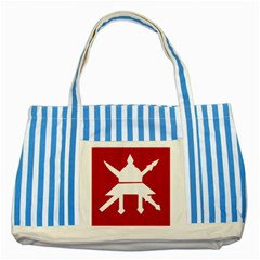Flag of The Myanmar Army Striped Blue Tote Bag
