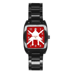 Flag of The Myanmar Army Stainless Steel Barrel Watch