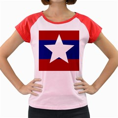 Flag of the Bureau of Special Operations of Myanmar Army Women s Cap Sleeve T-Shirt