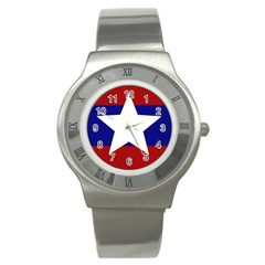 Flag of the Bureau of Special Operations of Myanmar Army Stainless Steel Watch