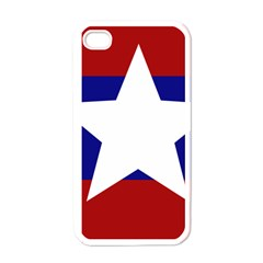 Flag of the Bureau of Special Operations of Myanmar Army Apple iPhone 4 Case (White)