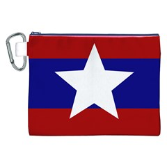 Flag of the Bureau of Special Operations of Myanmar Army Canvas Cosmetic Bag (XXL)