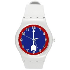 Flag of Myanmar Army Northern Command  Round Plastic Sport Watch (M)