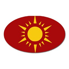Flag of Myanmar Army Northeastern Command Oval Magnet