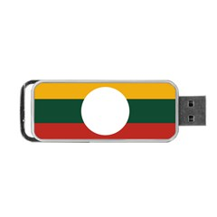 Flag Of Myanmar Shan State Portable Usb Flash (two Sides)