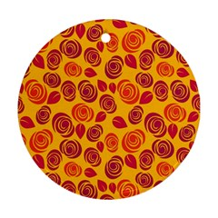 Orange roses Ornament (Round)