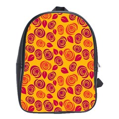 Orange roses School Bags(Large)
