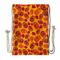 Orange roses Drawstring Bag (Large)