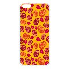 Orange roses Apple Seamless iPhone 6 Plus/6S Plus Case (Transparent)