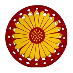 Flag of Myanmar Army Eastern Command Ornament (Round Filigree)