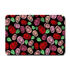 Red and pink roses Small Doormat