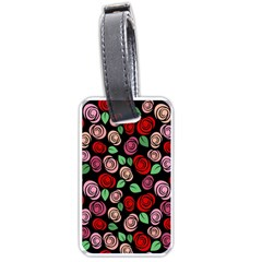 Red and pink roses Luggage Tags (One Side)