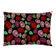 Red And Pink Roses Pillow Case (two Sides)