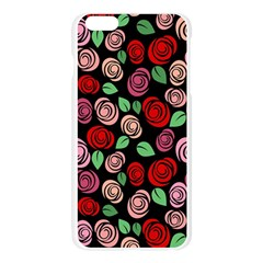 Red and pink roses Apple Seamless iPhone 6 Plus/6S Plus Case (Transparent)