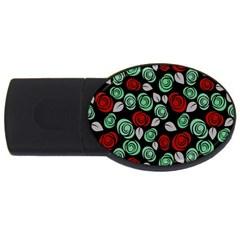 Decorative floral pattern USB Flash Drive Oval (2 GB)