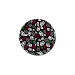 Elegant Roses Design Golf Ball Marker (4 Pack)