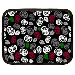 Elegant roses design Netbook Case (Large)