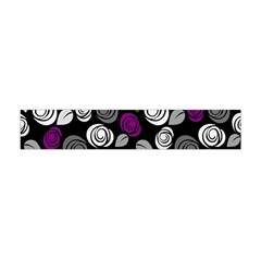 Purple roses pattern Flano Scarf (Mini)
