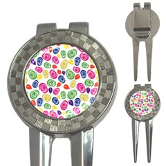 Colorful roses 3-in-1 Golf Divots