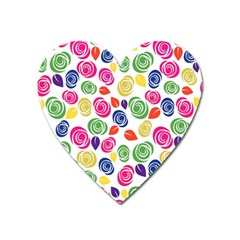 Colorful roses Heart Magnet