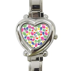 Colorful roses Heart Italian Charm Watch