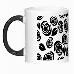 Black roses pattern Morph Mugs