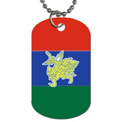 Flag Of Myanmar Kayah State Dog Tag (one Side)
