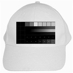 Grayscale Test Pattern White Cap
