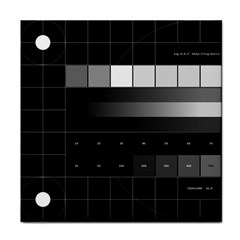 Grayscale Test Pattern Tile Coasters