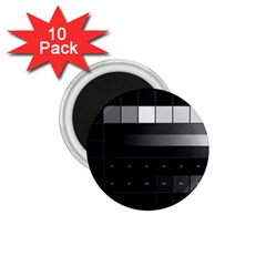 Grayscale Test Pattern 1.75  Magnets (10 pack)