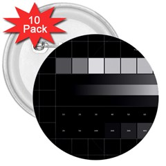 Grayscale Test Pattern 3  Buttons (10 pack)