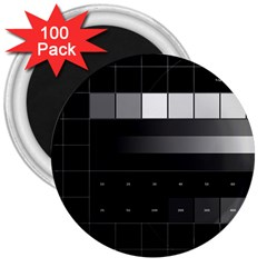 Grayscale Test Pattern 3  Magnets (100 pack)