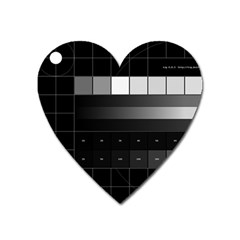 Grayscale Test Pattern Heart Magnet