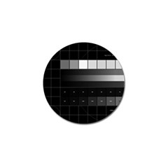 Grayscale Test Pattern Golf Ball Marker (10 pack)