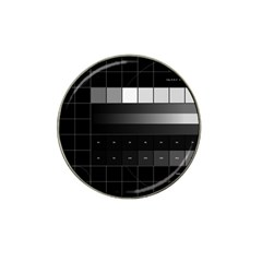 Grayscale Test Pattern Hat Clip Ball Marker (4 pack)