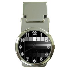 Grayscale Test Pattern Money Clip Watches