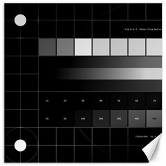 Grayscale Test Pattern Canvas 16  x 16