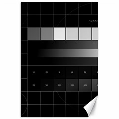 Grayscale Test Pattern Canvas 24  x 36